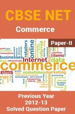 CBSE UGC NET Previous Year 2012-13 Solved Question Paper Commerce Paper-II(June-Dec)