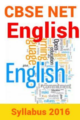 CBSE NET English Syllabus 2016