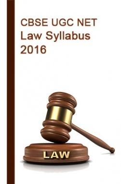 CBSE UGC NET  Law Syllabus 2016