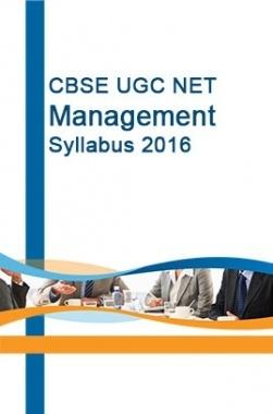 CBSE UGC NET Management Syllabus 2016