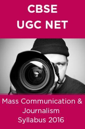CBSE NET Mass Communication and Journalism Syllabus 2016