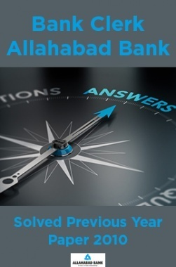 Bank Clerk Allahabad Bank Solved Previous Year Paper 2010