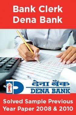 Bank Clerk Dena Bank Solved Sample Previous Year Paper 2008