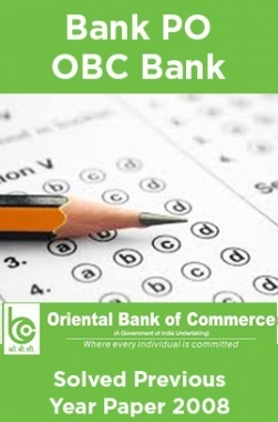 Bank PO OBC Bank Solved Previous Year Paper 2008
