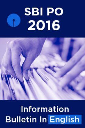 SBI PO 2016 Information Bulletin In English