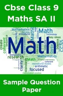 Cbse Class 9 Maths SA II Sample Question Paper