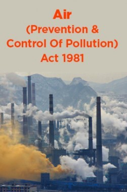 Air (Prevention And Control Of Pollution) Act 1981