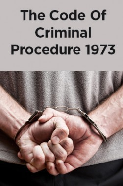 The Code Of Criminal Procedure 1973