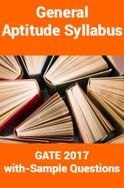 General Aptitude Syllabus for GATE Exam with Sample Questions