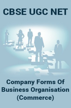 CBSE UGC NET : Company Forms Of Business Organisation (Commerce)