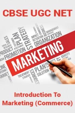 CBSE UGC NET : Introduction To Marketing (Commerce)