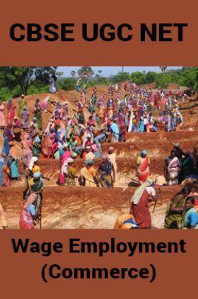 CBSE UGC NET : Wage Employment (Commerce)