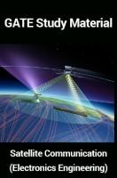 GATE Study Material Satellite Communication (Electronics Engineering)