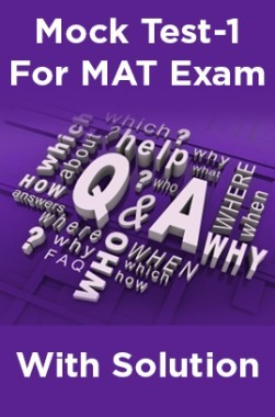 Mock Test-1 For MAT Exam With Solution
