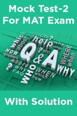 Mock Test-2 For MAT Exam With Solution