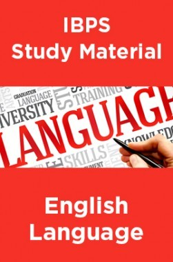 IBPS Study Material For English Language