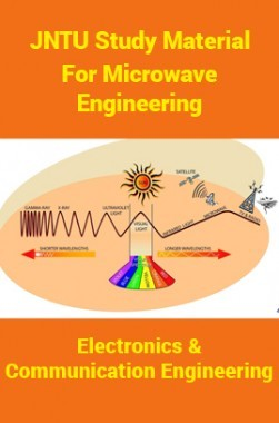 JNTU Study Material ForMicrowave Engineering (Electronics And Communication Engineering)