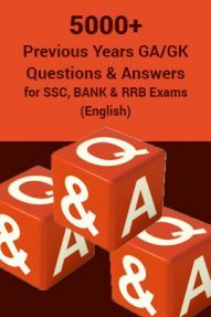 5000 Previous Years GA/GK Questions & Answers for SSC, BANK And RRB Exams (English)