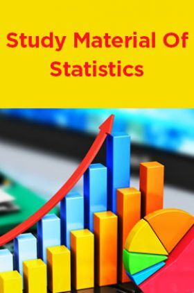 Study Material Of Statistics
