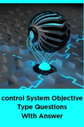Control System Objective Type Questions With Answer