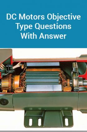 DC Motors Objective Type Questions With Answer