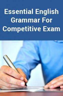 Essential English Grammar For Competitive Exam