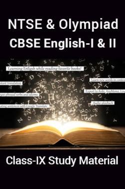 NTSE & Olympiad CBSE English-I & II For Class-IX Study Material