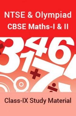 NTSE & Olympiad CBSE Maths-I & II For Class-IX Study Material