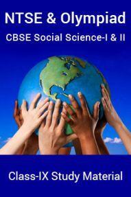 NTSE & Olympiad CBSE Social Science-I & II For Class-IX Study Material