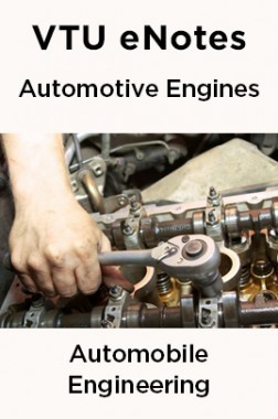 VTU eNotes On Automotive Engines For Automobile Engineering