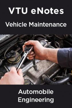 VTU eNotes On Vehicle Maintenance  For Automobile Engineering
