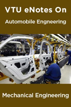 VTU eNotes On Automobile Engineering For Mechanical Engineering