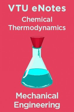 VTU eNotes On Chemical Thermodynamics For Mechanical Engineering