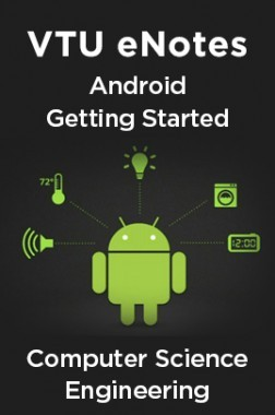 VTU eNotes On Android Getting Started For Computer Science Engineering