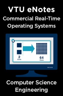 VTU eNotes On Commercial Real-Time Operating Systems For Computer Science Engineering