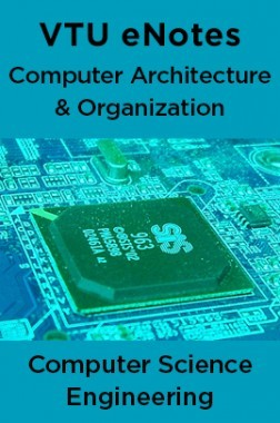 VTU eNotes On Computer Architecture & Organization For Computer Science Engineering