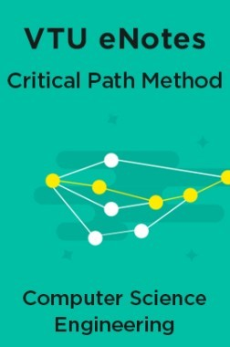 VTU eNotes On Critical Path Method (CPM) For Computer Science Engineering