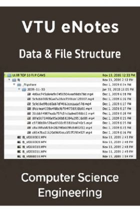 VTU eNotes On Data And File Structure For Computer Science Engineering