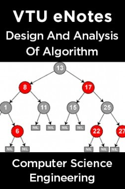 VTU eNotes On Design And Analysis Of Algorithm For Computer Science Engineering