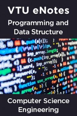 VTU eNotes On Programming & Data Structure For Computer Science Engineering