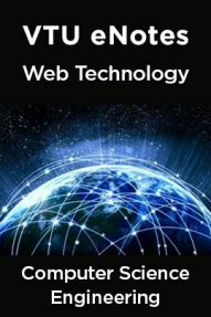 VTU eNotes On Web Technology For Computer Science Engineering