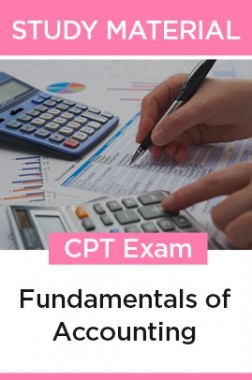 Study Material Fundamentals Of Accounting For CPT 2018