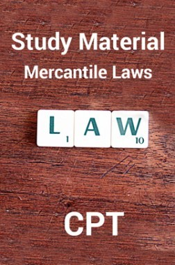 Study Material Mercantile Laws For CPT 2018
