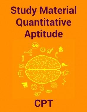 Study Material Quantitative Aptitude For CPT 2018