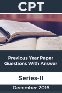 CPT December 2016 Previous Year Paper Question With Answer Series-II
