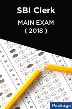 SBI Clerk 2018 Main Exam (Package)