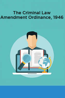 The Criminal Law Amendment Ordinance, 1946