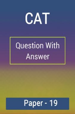 CAT Question With Answer Paper-19