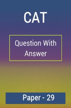 CAT Question With Answer Paper-29