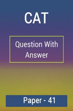 CAT Question With Answer Paper-41